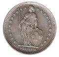 Moneda de Suiza 1 franco 1946 Ceca B. MBC+