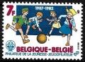 Sello Boy Scout Belgica 2065 (**) 1982