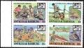 Sello Boy Scout Antigua y Barbuda 1016/19 (**) 1988