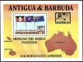 Sello Boy Scout Antigua y Barbuda HB 129 (**) 1988