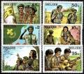 Sello Boy Scout Belize 0588/93 (**) 1982