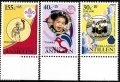 Sello Boy Scout Antillas Holandesas 867/69 (**) 1990
