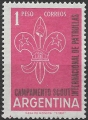 Sello Boy Scout Argentina 0633 (**) 1961