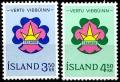 Sello Boy Scout Islandia 0333/34 (**) 1964
