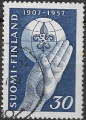 Sello Boy Scout Finlandia 0453 (o) 1957