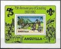 Sello Boy Scout Anguilla HB 44 (**) 1982