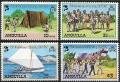 Sello Boy Scout Anguilla 452/55 (**) 1982