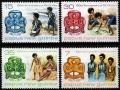 Sello Boy Scout Papua Nueva Guinea 328/31 (**) 1977