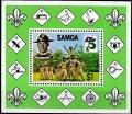 Sello Boy Scout Samoa HB 028 (**) 1982