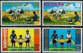 Sello Boy Scout Guyana 445/48 (**) 1974