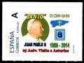 Sello Papa Juan Pablo II. EXFICO CAO 2014