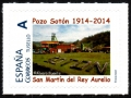 Sello XVII Expos. Santa Bárbara 2014. Pozo Sotón