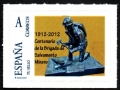 Sello XV Exposición Santa Bárbara 2012. Salvamento minero