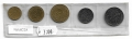 Serie Monedas Francia (5 Valores). 1977 S/C