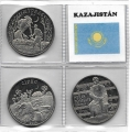 Serie Monedas Kazajistan (3 Valores). 2013-14 S/C