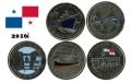 Serie Monedas Panamá (5 Val) 2016. Canal de Panamá