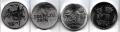 Serie Monedas Rusia (4 Val) JJOO Sochi 2014 S/C