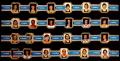 Serie Rubens. Jugadores Baloncesto Azul (Pequeñas). 24 Vitolas