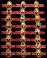 Serie Vitolas Capote-Tabacos. Personajes Serie A. 24 Vitolas