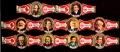 Serie Vitolas Washington. Cent. Socialismo. 10 Vitolas