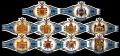 Serie Vitolas Washington. Escudos Armas Azul. 10 Vitolas