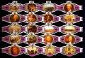 Serie Vitolas Washington. Inglaterra S.XVIII Rosa. 20 Vitolas