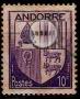 Serie de sellos Andorra Francesa nº 0093 (**)