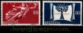 Serie de sellos Suiza nº 0455/56 (**)