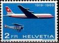 Serie de sellos Suiza Aéreo nº A 46 (**)