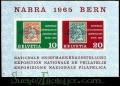 Serie de sellos Suiza Hoja Bloque nº 20 (**)