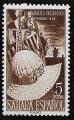 Serie de sellos Sahara español nº 097 Con manchas (**)