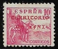 Serie de sellos Ifni nº 004 (**) ERROR EN COLOR SOBRECARGA