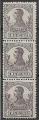 Serie de sellos Guinea Española nº 095 (**) BLOQUE 3 VERT.