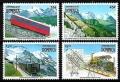 Serie de sellos Dominica ferrocarriles Nº 1247-50 (**)