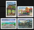 Serie de sellos Dominica ferrocarriles Nº 0969-73 (**)