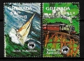 Serie de sellos Grenada ferrocarriles Nº 1195-6 (**)