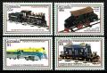 Serie de sellos Grenada ferrocarriles Nº 2189-92 (**)