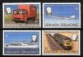Serie de sellos Grenada Grenadines ferrocarriles Nº 0293-96 (**)