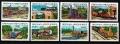 Serie de sellos Grenada Grenadines ferrocarriles Nº 0547-54 (**)