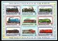 Serie de sellos Grenada Grenadines ferrocarriles Nº 1326-34 (**)