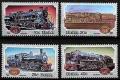 Serie de sellos Sudafrica ferrocarriles Nº 0535-38 (**)