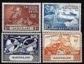 Serie de sellos Lesoto ferrocarriles Nº 0041-4 (**)