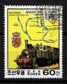 Serie de sellos Corea del Norte ferrocarriles Nº 1948 (o)