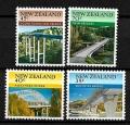 Serie de sellos Nueva Zelanda ferrocarriles Nº 0897-00 (**)