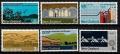 Serie de sellos Nueva Zelanda ferrocarriles Nº 0580-85 (**)