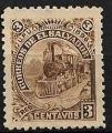 Serie de sellos  El Salvador ferrocarriles Nº 0134 (*)