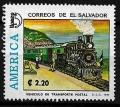 Serie de sellos  El Salvador ferrocarriles Nº 1218 (o)