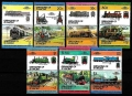 Serie de sellos Granadinas San Vicente ferrocarril Nº 335-50 (**