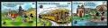 Serie de sellos Granadinas San Vicente ferrocarril Nº 570-72 (**