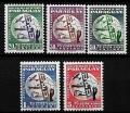 Serie de sellos Paraguay ferrocarriles Nº 0171-5 (**)